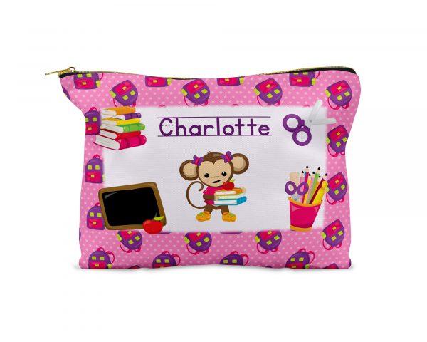 monkey-school-girl-stars-pencil-case