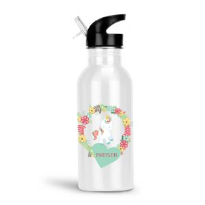 unicorn-floral-heart-water-bottle