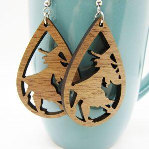 teardrop-flying-witch-wood-earrings