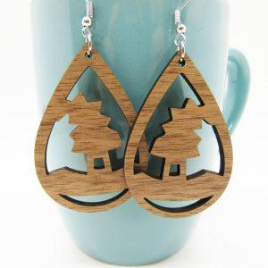 teardrop-witch-hat-wood-earrings
