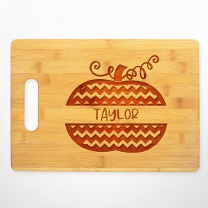 pumpkin-chevron-split-name-cutting-board