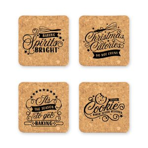 christmas-baking-cork-coaster-set