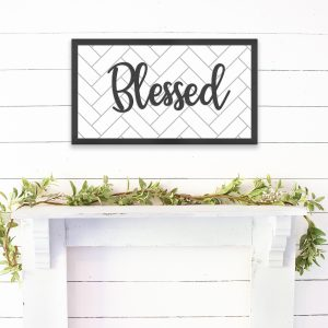 blessed-wooden-sign