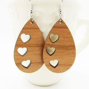 teardrop-three-hearts-earrings