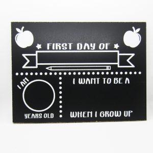 First Day of School Apples Stars Chalkboard