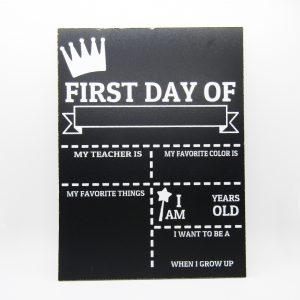 First Day of School Princess Chalkboard