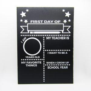 First Day of School Stars Chalkboard